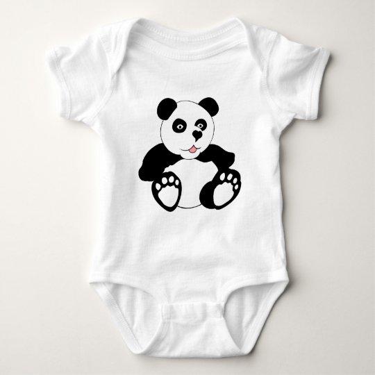 Adorable Panda Baby Bodysuit