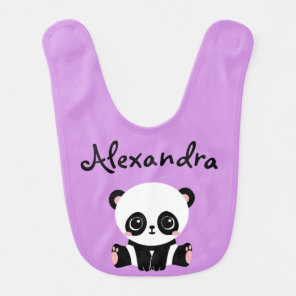 Adorable Panda Bear Baby Bib