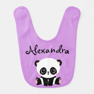 Adorable Panda Bear Baby Bib