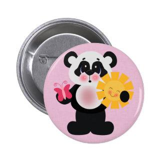 Adorable Panda Bear 6 Cm Round Badge