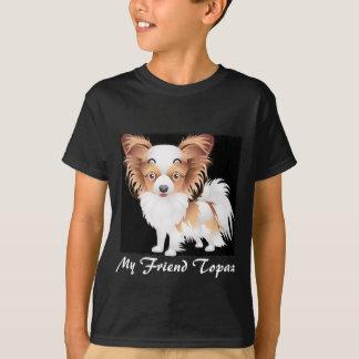 Adorable Papillon Dog Kids' Hanes TAGLESS® T-Shirt