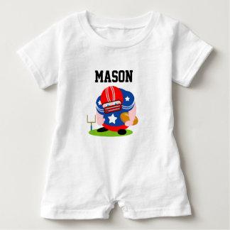 Adorable patriotic American football player design Baby Bodysuit