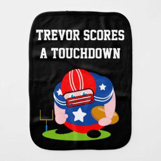 Adorable patriotic American football player design Burp Cloth