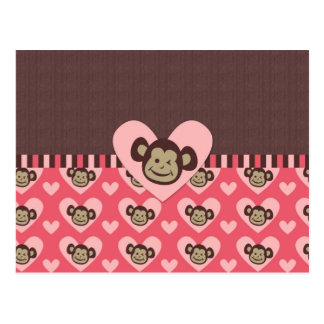Adorable Peace Monkey Cards, Postage, Gifts Postcard