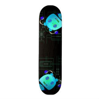 Adorable Peek A Boo Blue Robot 18.1 Cm Old School Skateboard Deck