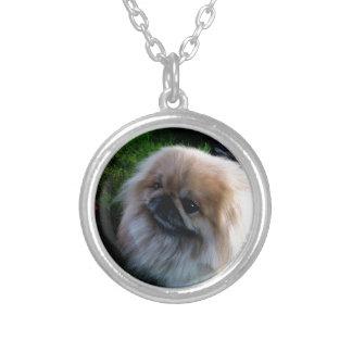 Adorable Pekingese Puppy Necklace