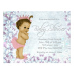 Adorable Pink and Purple Baby Shower Announcement