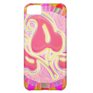 Adorable Pink Leaf Jewel : Dazzling Border iPhone 5C Case
