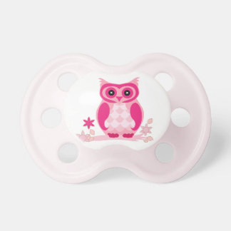Adorable Pink Owl Pacifier