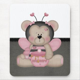 Adorable Pink Teddy Bear Mousepads