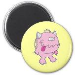 adorable pink tongue chomper monster refrigerator magnet