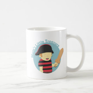 Adorable Pirate Boy in Red Black Stripes Top Coffee Mug