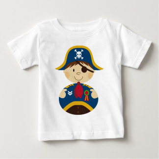 Adorable Pirate Captain Baby T-Shirt