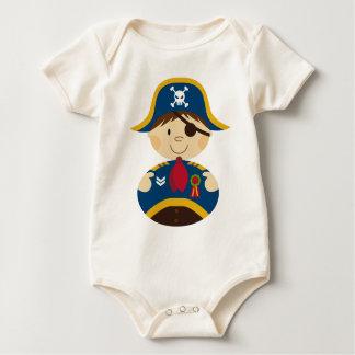 Adorable Pirate Captain Design Sleepsuit Baby Bodysuit
