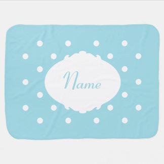 Adorable Polka Dot Name Baby Blanket