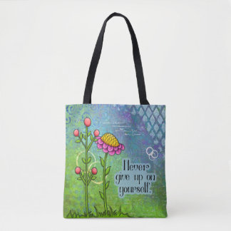 Adorable Positive Thought Doodle Flower Bag