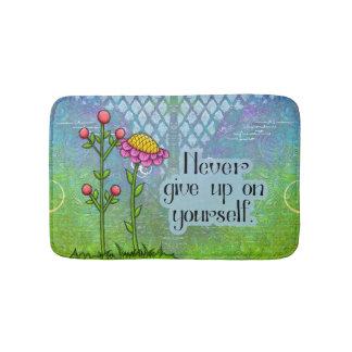 Adorable Positive Thought Doodle Flower Bathmat