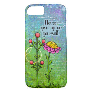 Adorable Positive Thought Doodle Flower iPhone 7 iPhone 8/7 Case