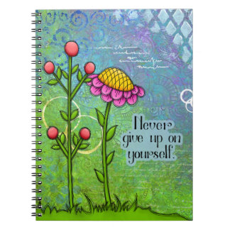 Adorable Positive Thought Doodle Flower Notebook