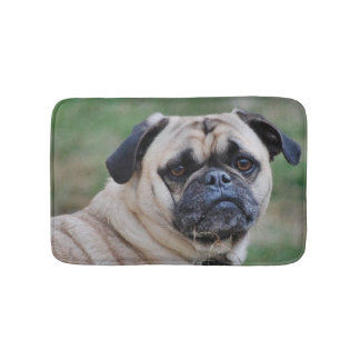 Adorable Pug Bath Mat