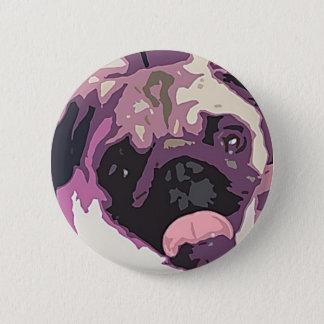 Adorable Pug Button