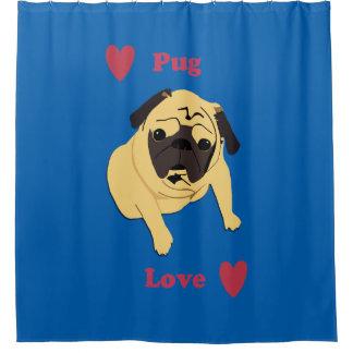 Adorable Pug Love Shower Curtain