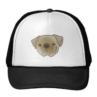 Adorable Pug. Mesh Hat