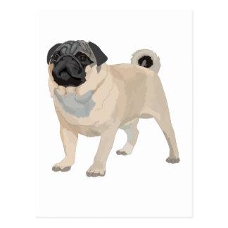 Adorable Pug Postcard