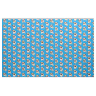 Adorable Pug Puppy Fabric