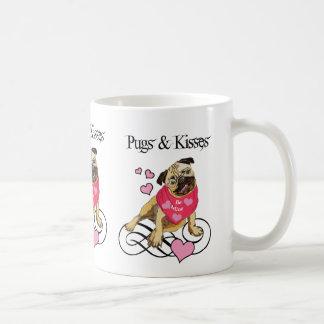 Adorable Pugs & Kisses Valentine Tees & Gifts Coffee Mug