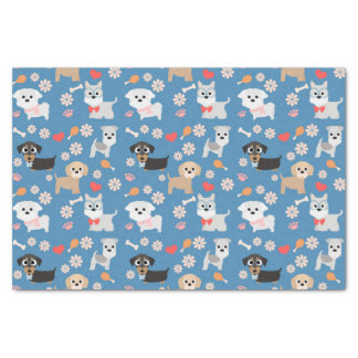 Adorable Puppies Tissue Paper