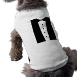 Adorable Puppy Tuxedo Shirt Pet Tshirt