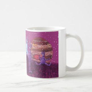 Adorable Purple Cyclops's and Cows on Europa Basic White Mug