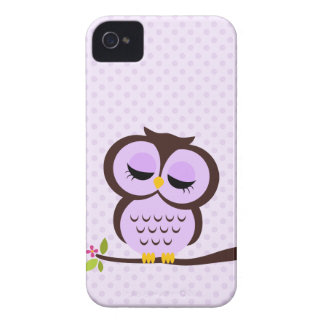 Adorable Purple Owl iPhone 4 Case-Mate Cases