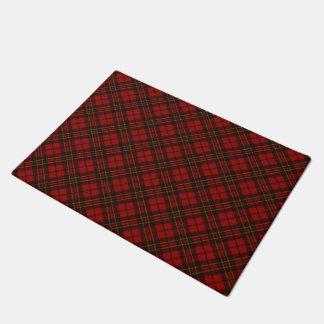 Adorable Red Christmas tartan Doormat