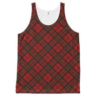 Adorable Red Christmas tartan (double sided print) All-Over Print Tank Top