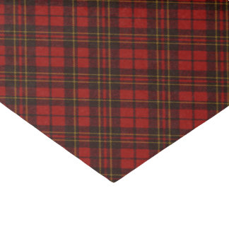 Adorable Red Christmas tartan Tissue Paper