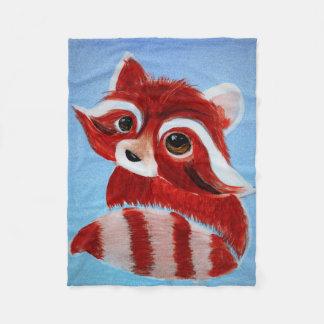 Adorable Red Panda Fleece Blanket