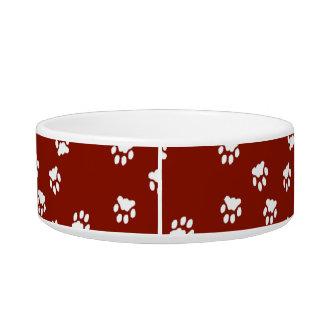 Adorable Red Paw Printed Medium Dog Bowl