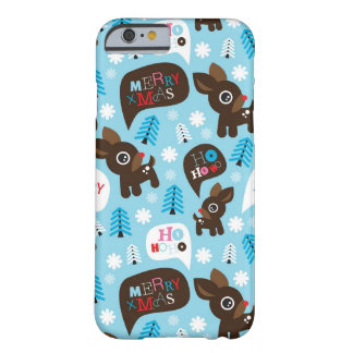 Adorable reindeer and Merry Christmas Barely There iPhone 6 Case