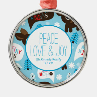 Adorable reindeer and Merry Christmas Christmas Ornament