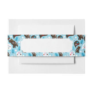 Adorable reindeer and Merry Christmas Invitation Belly Band