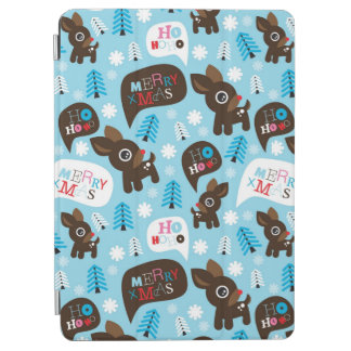 Adorable reindeer and Merry Christmas iPad Air Cover