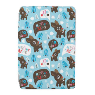Adorable reindeer and Merry Christmas iPad Mini Cover