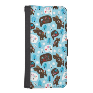 Adorable reindeer and Merry Christmas iPhone SE/5/5s Wallet Case