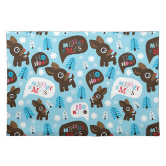 Adorable reindeer and Merry Christmas Placemat