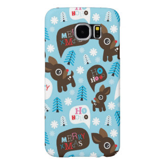 Adorable reindeer and Merry Christmas Samsung Galaxy S6 Cases
