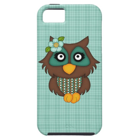 Adorable Retro Green Owls iPhone 5 Covers