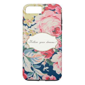 Adorable  Romantic Flowers -Motivational Message iPhone 8 Plus/7 Plus Case