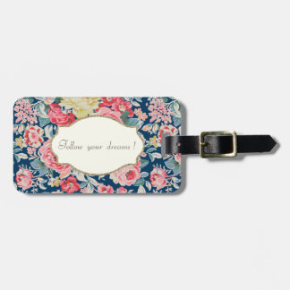 Adorable  Romantic Flowers -Motivational Message Luggage Tag